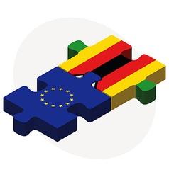 European Union and Zimbabwe Flags vector image
