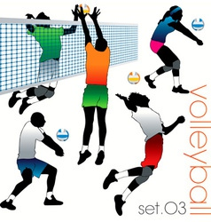 Volleyball players set03 vector