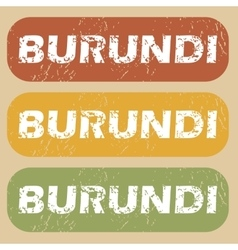 Vintage burundi stamp set vector