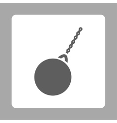 Destruction hammer icon vector