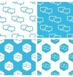 Chat patterns set vector