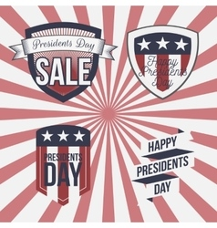 Presidents day patriotic labels set vector
