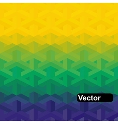 geometric background in Brazil flag vector image