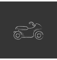 Motorcycle drawn in chalk icon vector