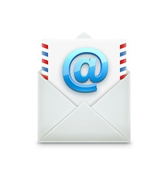 Email concept realistic object isolated on white vector
