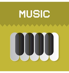 Abstract Music Keyboard Symbol on Green Background vector image vector image