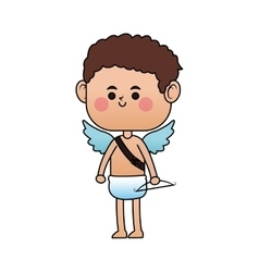 baby cupid cartoon icon vector image
