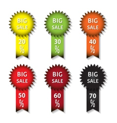 big sale icons vector image
