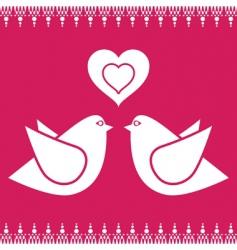 bird love vector image vector image