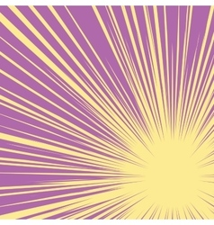 Bright burst background retro comic pop art vector