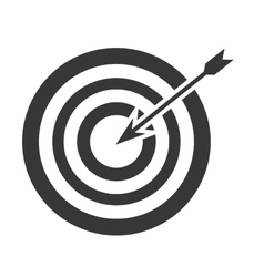 Bullseye with arrow icon vector
