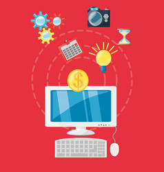 Business and strategy design vector