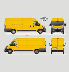 Citroen jumper cargo delivery van 2017 l4h2 vector