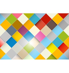 Colorful Abstract Square Retro - Modern Background vector image