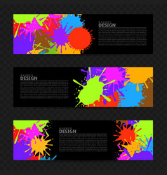 colorful banner design vector image vector image