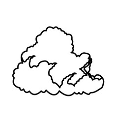 cumulus cloud weather natural meteorology vector image vector image