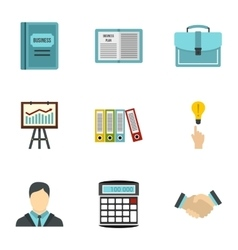 Earnings icons set flat style vector