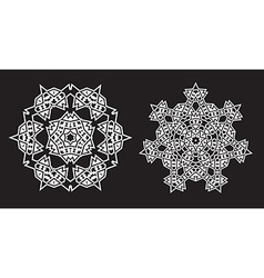 Ethnic fractal mandala looks like snowflake or vector