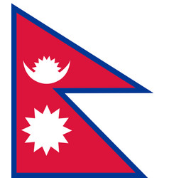 Flag of nepal in national colors vector