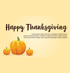 Happy thanksgiving day background collection vector