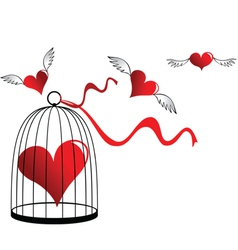 Heart in a cage vector