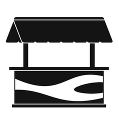 Market stall with awning icon simple style vector