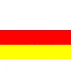 North Ossetia flag vector image vector image