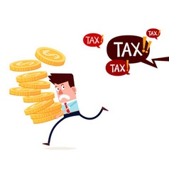 running away from paying taxes vector image vector image