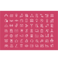 Set Flat Line Icons Business vector image vector image