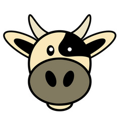 simple cartoon of a cute cow vector image