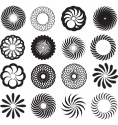 spirograph silhouettes vector image vector image