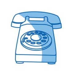 telephone call talk retro device icon vector image