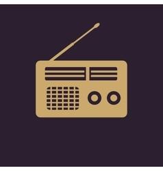 The receiver icon radio symbol flat vector