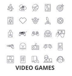 video computer games controller play screen vector image