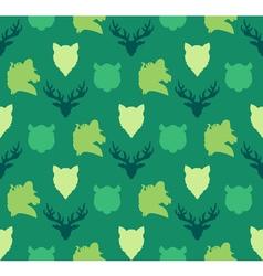 Wildlife seamless pattern vector image