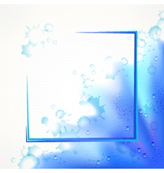 Watercolor blue frame vector