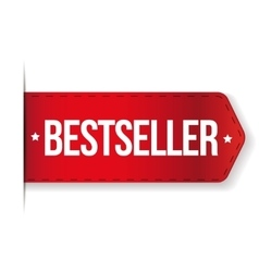 Bestseller red ribbon vector