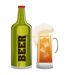 beer glass icon design graphic vector image