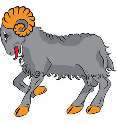 Sheep farm animal vector