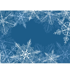 Background with fragile snowflakes vector