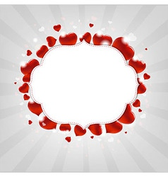 Valentines day with hearts vector