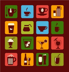 Drinks and beverages icons 38 vector