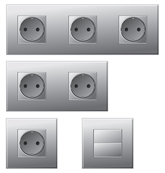 Electric sockets vector