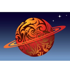 Tattoo planet vector