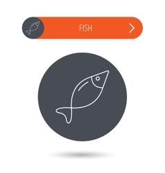 Fish icon fishing sign vector
