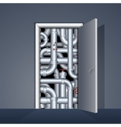 Door to boiler room vector