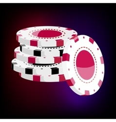 Red and black casino tokens icon cartoon style vector