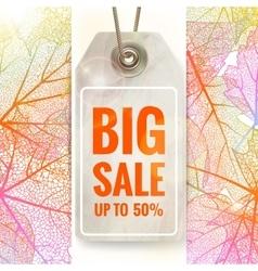 Autumn seasonal sale label eps 10 vector