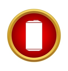 Aluminum can icon in simple style vector image