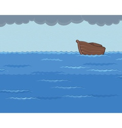 Ark in the rainy sea vector